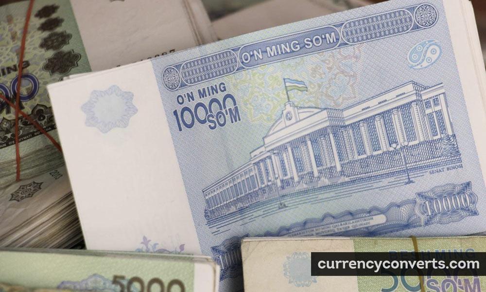Uzbekistani som - UZS money image