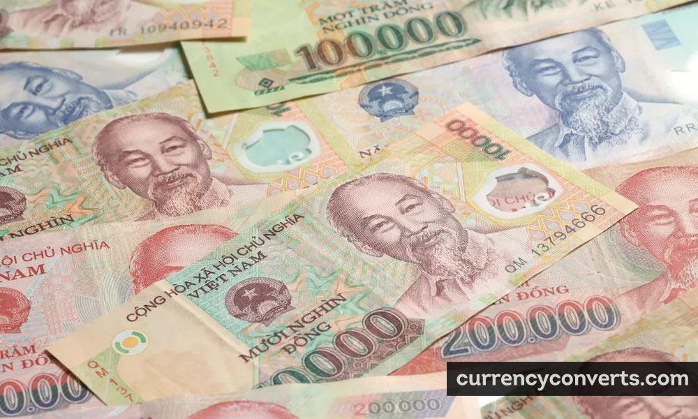 Vietnamese Dong VND currency banknote image