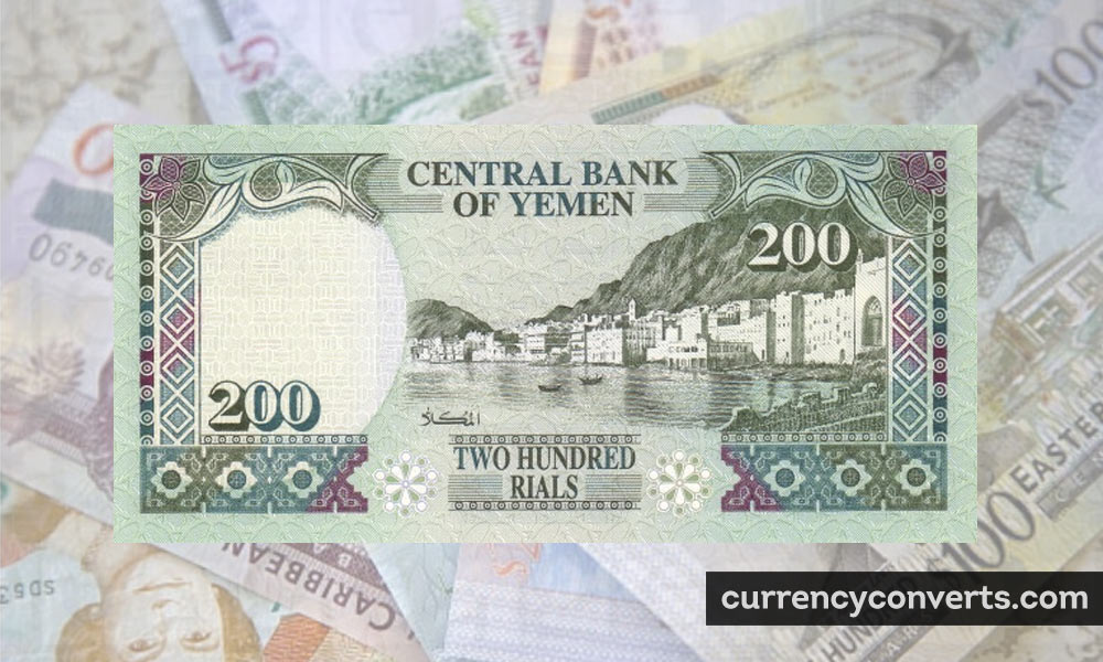 Yemeni Rial YER currency banknote image